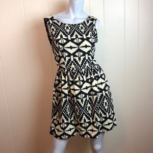 3/$27 One Clothing Black Tan Fit & Flare Dress